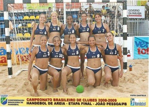 Equipe da ACH nas finais do Brasileiro de Handebol de Areia