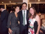 Ministro Orlando Silva, Atleta do Handebol Tatianne Yumi, Presidente da ACH Jaqueline Alves